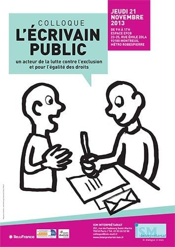 Colloque Écrivain public
