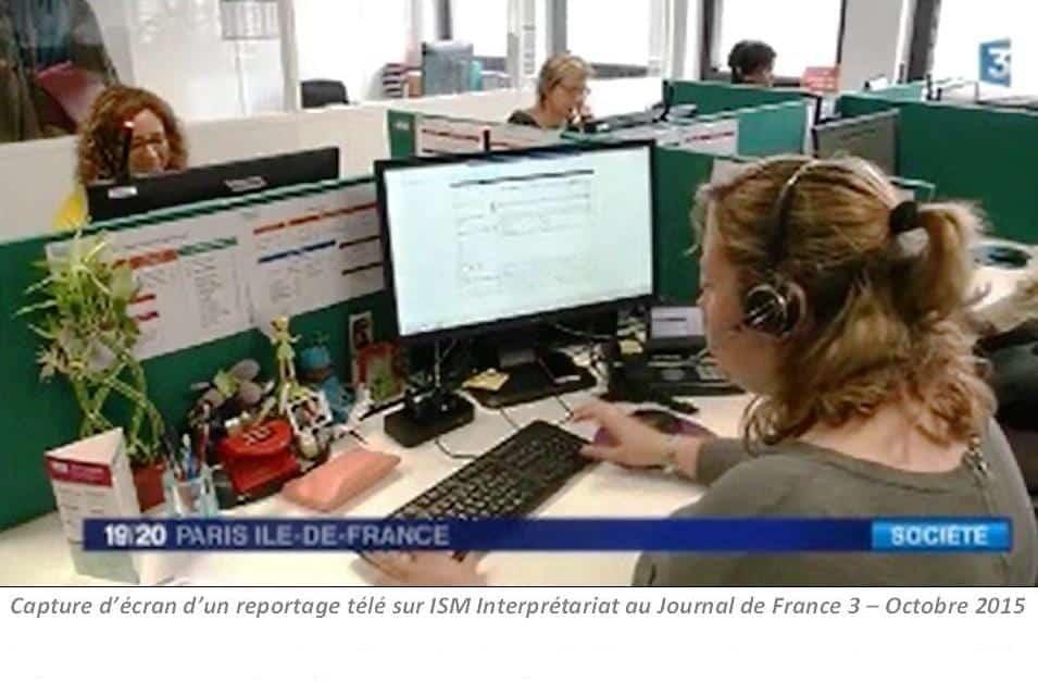 Capture écran France3 1 - En 2015, ISM plus que jamais mobilisée pour l'accueil et l'intégration des migrants