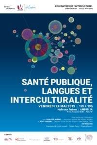 Affiche de la table ronde Santé publique, langues et interculturalité